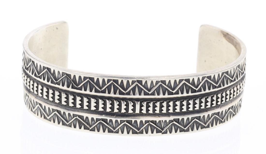 Sunshine Reeves Overlay Heavy Stamp Bracelet