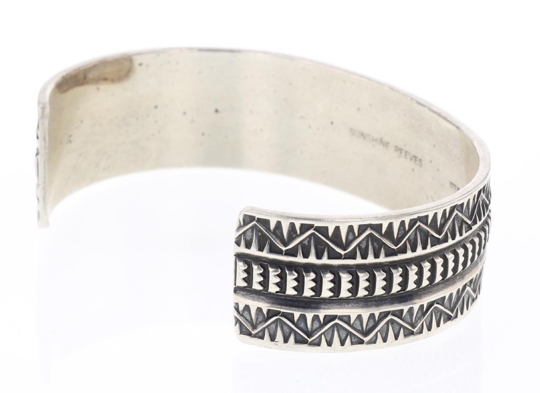 Sunshine Reeves Overlay Heavy Stamp Bracelet - 2