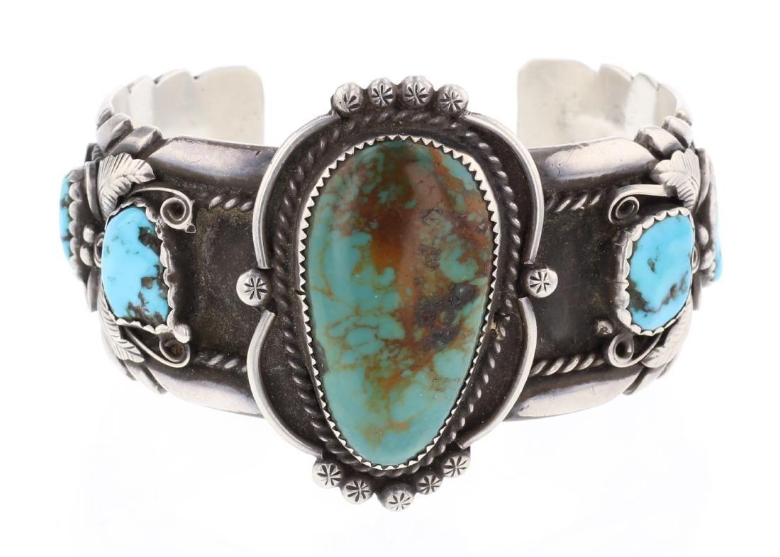 V. Chee Vintage Turquoise Cuff Bracelet