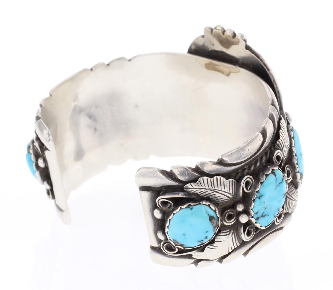 V. Chee Vintage Turquoise Cuff Bracelet - 2