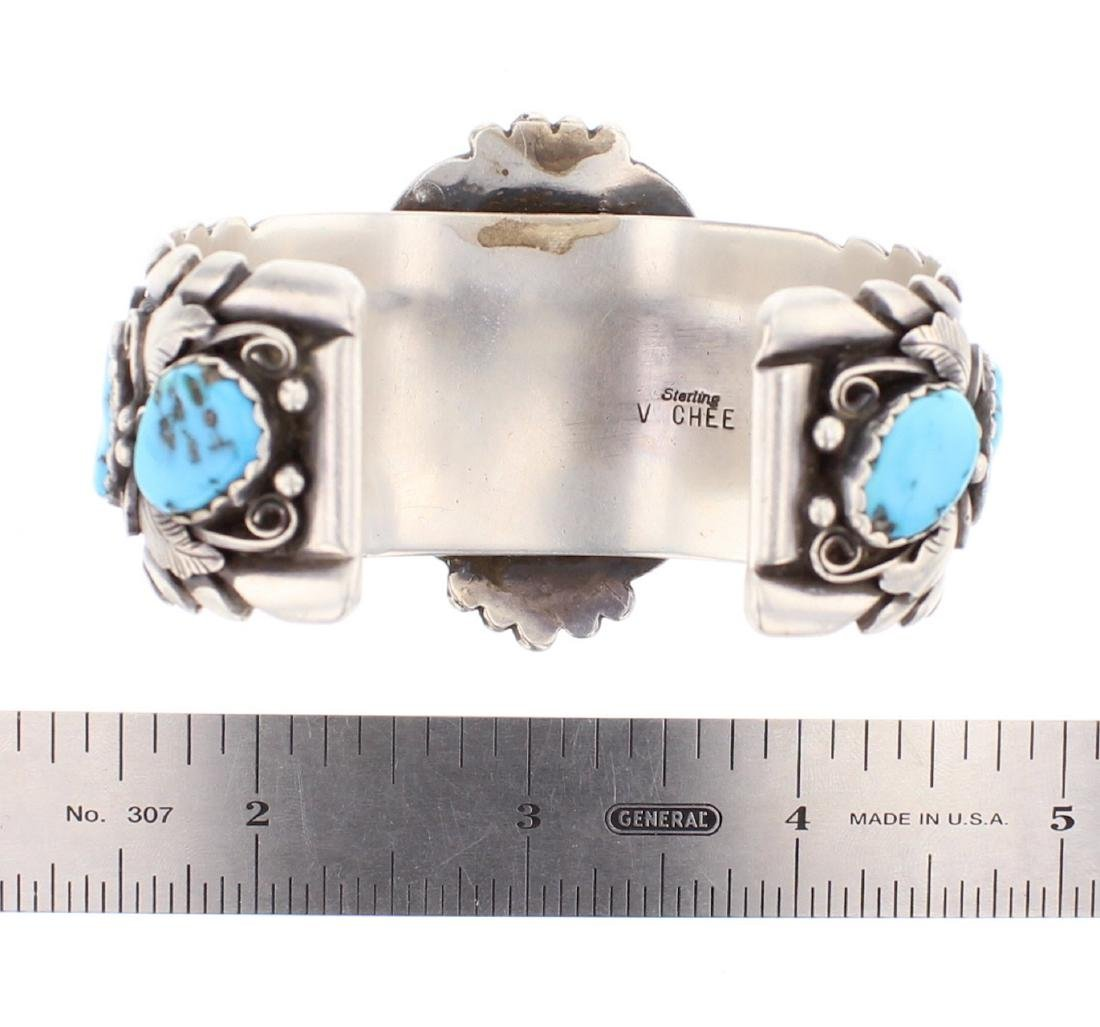V. Chee Vintage Turquoise Cuff Bracelet - 3