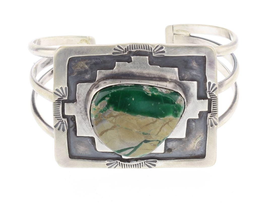 Ray Bennet Vintage Turquoise Cuff Bracelet