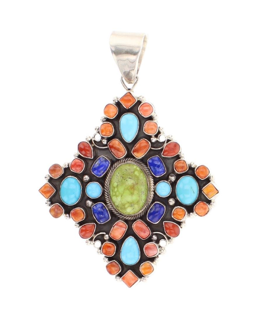 Eleanor Largo Contemporary Multi Stone Pendant