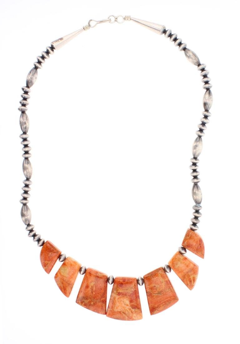 Spiny Oyster Vintage Beads Necklace