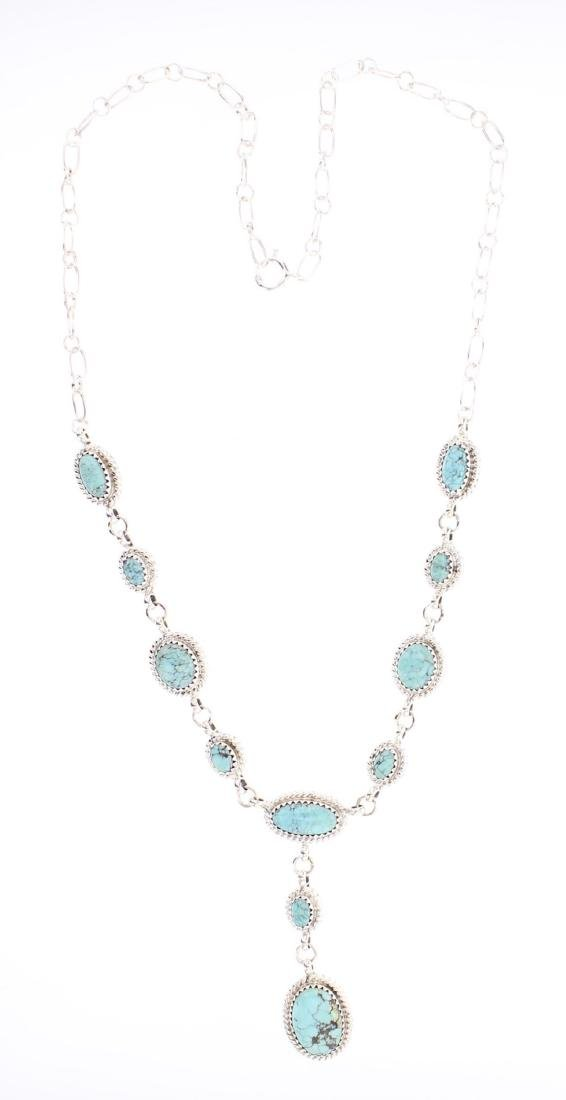 RB Contemporary Turquoise Chain Link Necklace