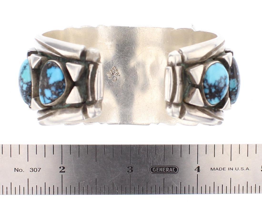 Vintage Turquoise Shadow Box Watch Cuff Bracelet - 3