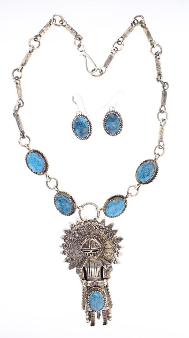 G Boyde Vintage Chief Necklace & Earrings Set