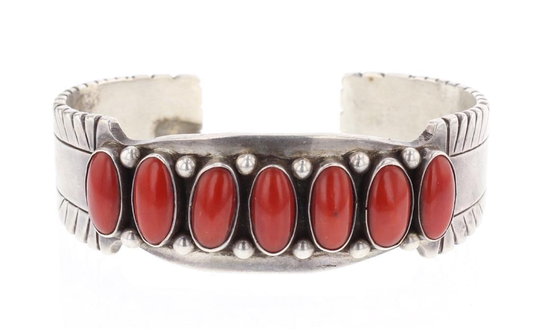 Tom Bahe Mediterranean Coral Row Cuff Bracelet