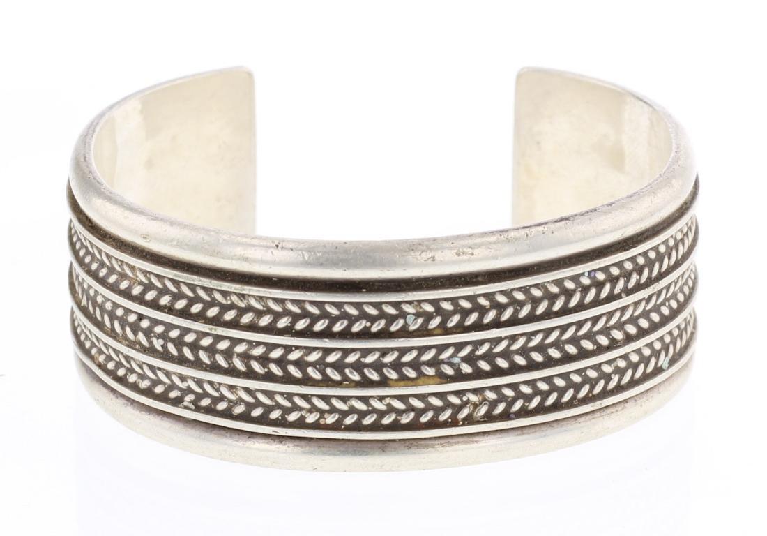 Tom Hawk Vintage Twist Wire Row Cuff Bracelet