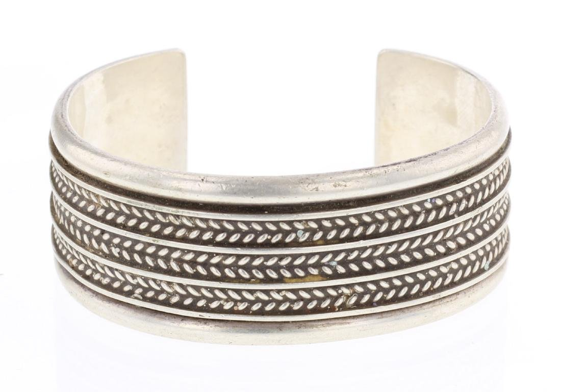 Tom Hawk Vintage Twist Wire Row Cuff Bracelet