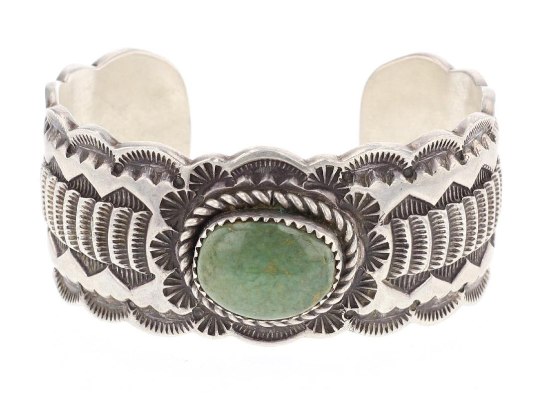 Turquoise Heavy Stamp Cuff Bracelet