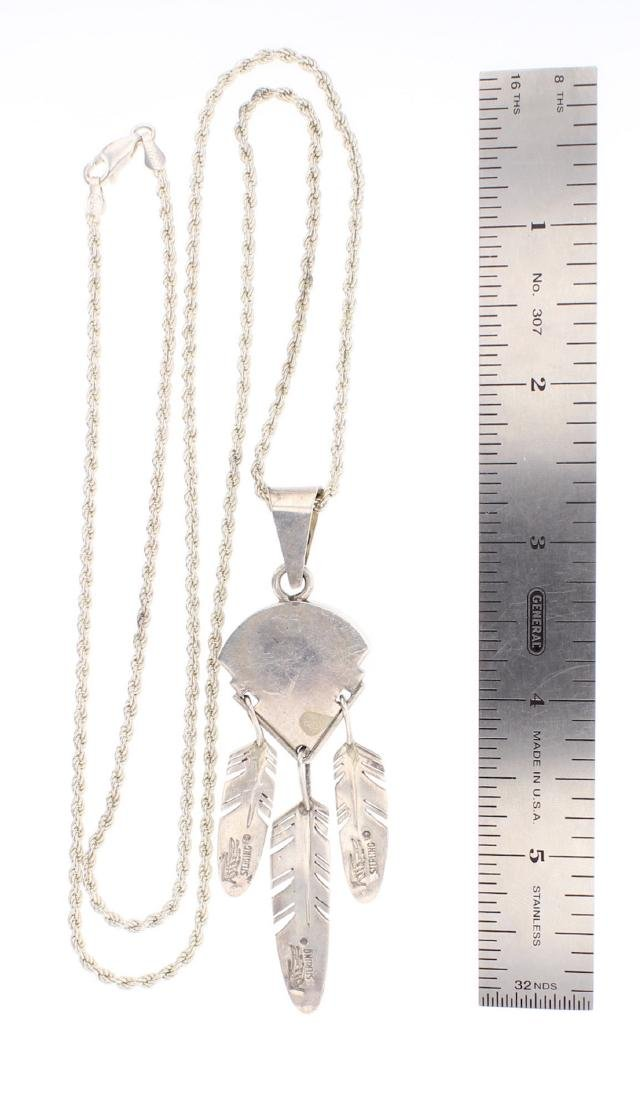 Tracey Knifewing Vintage Chaorite Feather Necklace - 2