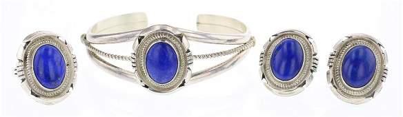 Jon McCray Lapis Bracelet Earrings  Ring Set