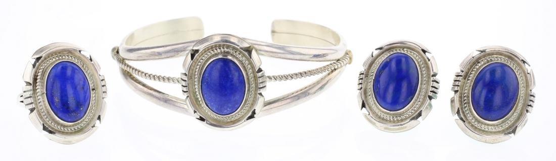 Jon McCray Lapis Bracelet Earrings & Ring Set