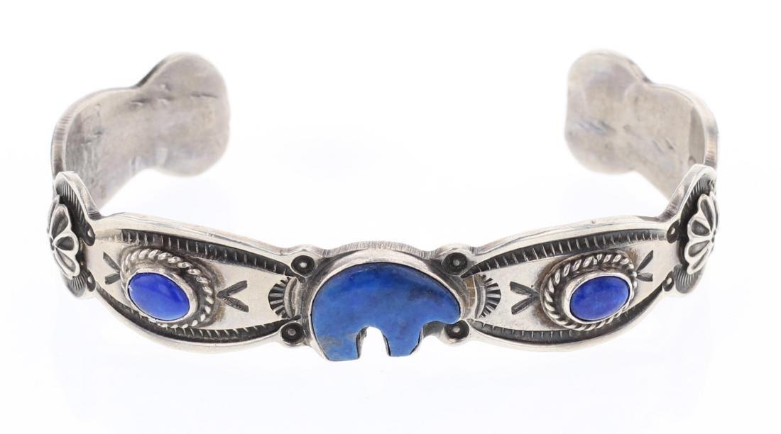 Reeves Lapis Vintage Cuff Bracelet