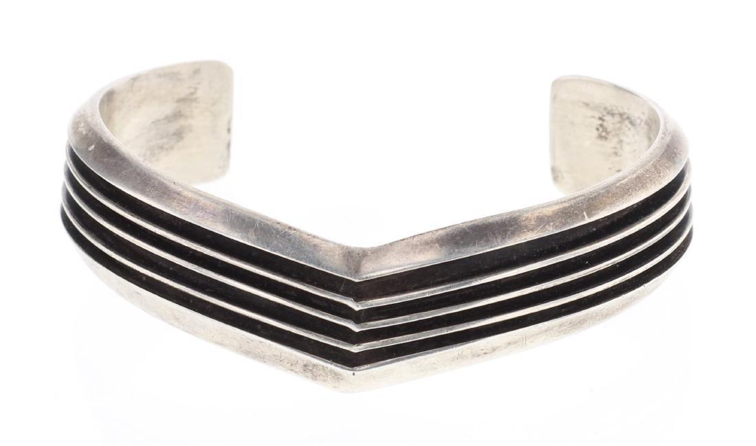 Tom Hawk Vintage Triangle Row Cuff Bracelet
