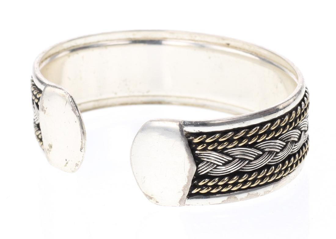 Vintage Twist Wire Cuff Bracelet - 2