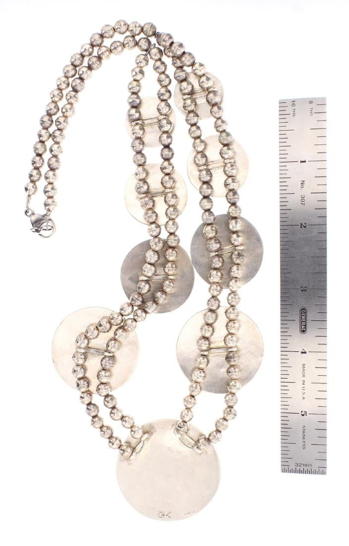 Vintage Hopi Overlay Story Teller Design Necklace - 2