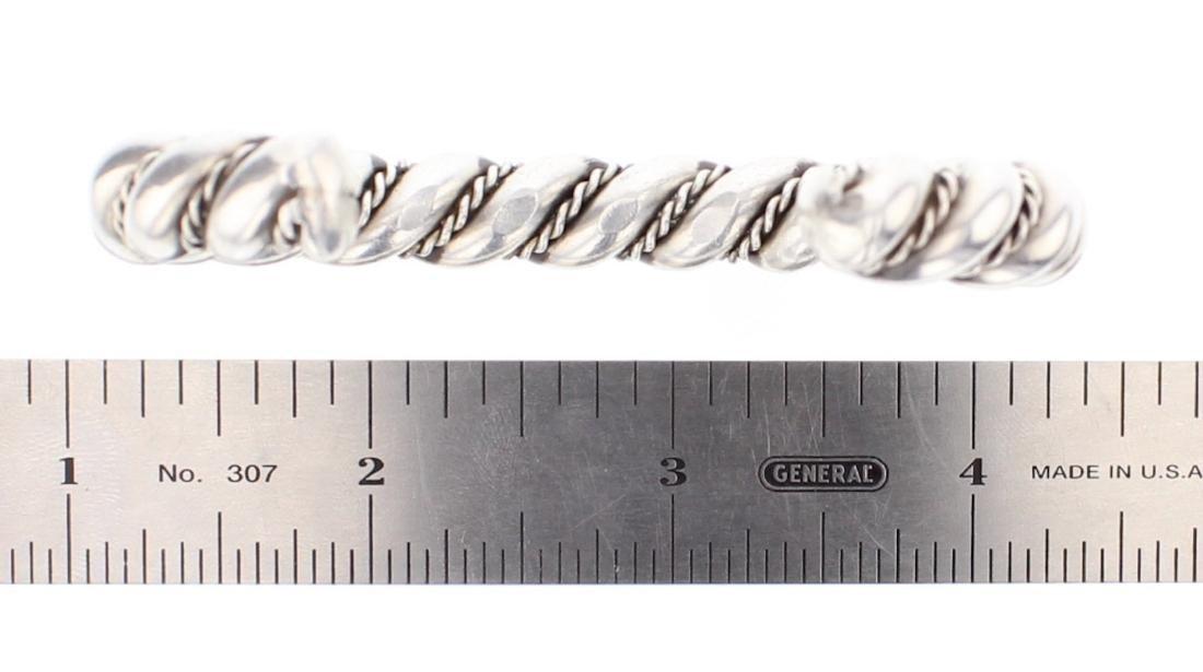 Vintage Twist Wire Cuff Bracelet - 3