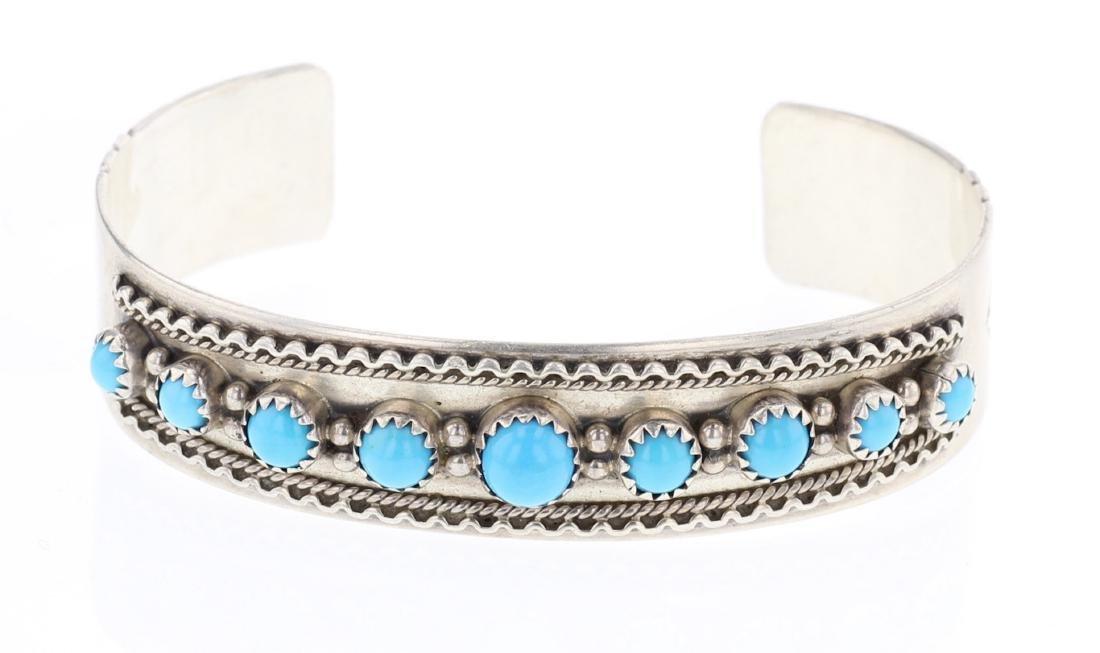Sleeping Beauty Turquoise Cuff Bracelet