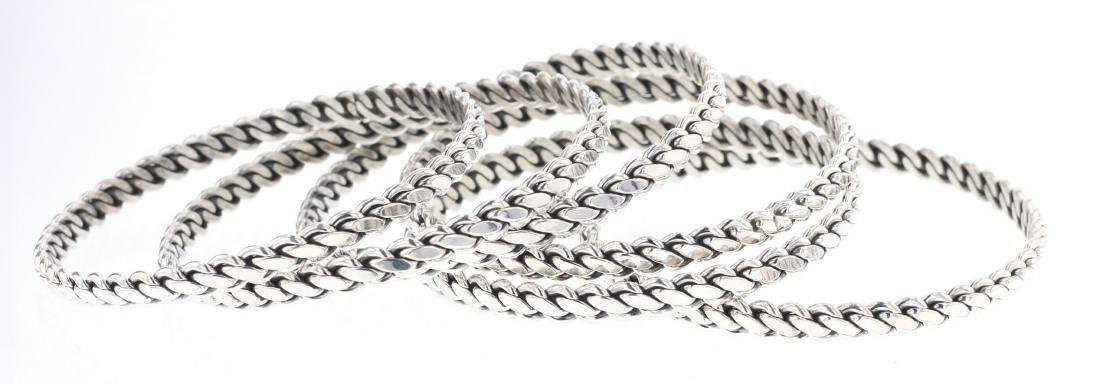 Twist Wire Bangle Bracelet Set of Six