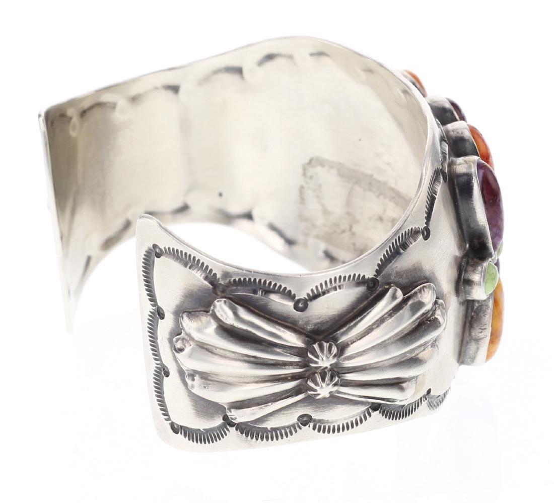 RB Gaspeite & Spiny Oyster Cuff Bracelet - 2