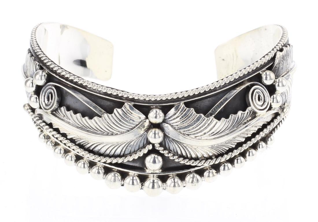 RB Feather Overlay Contemporary Bracelet