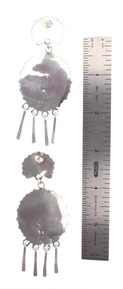Zeta Begay Turquoise Cluster Chandelier Earrings - 2