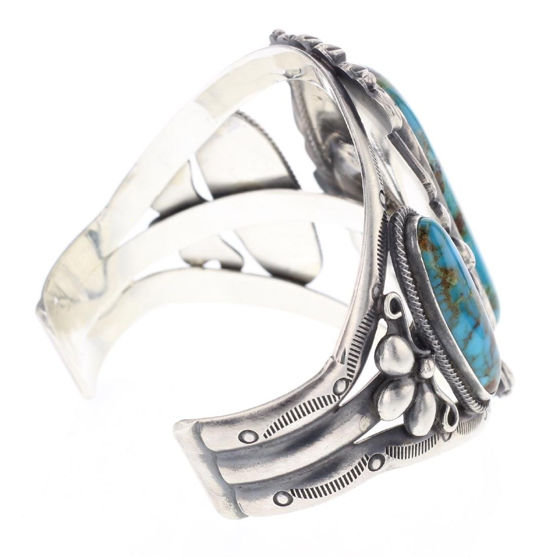 Ray Delgarito Turquoise Stamp Out Cuff Bracelet - 2