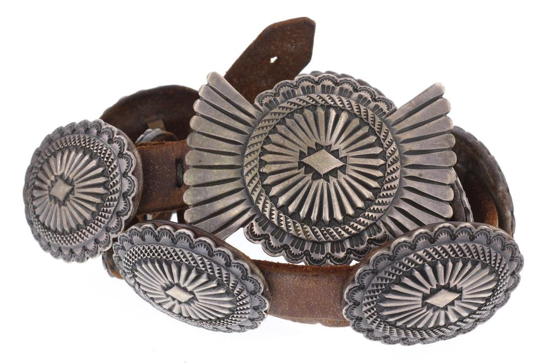 Dale Harris Heavy Stamp Old Pawn Concho Belt