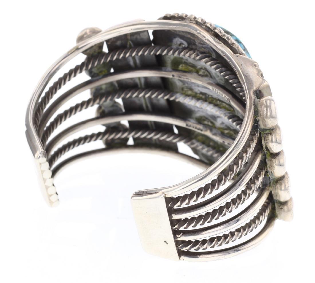 Rick Martinez Vintage Large Stone Cuff Bracelet - 2