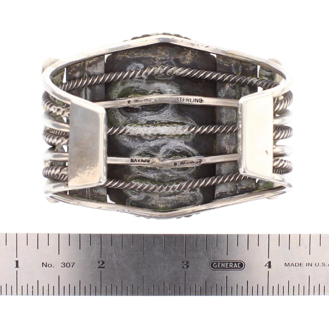 Rick Martinez Vintage Large Stone Cuff Bracelet - 3