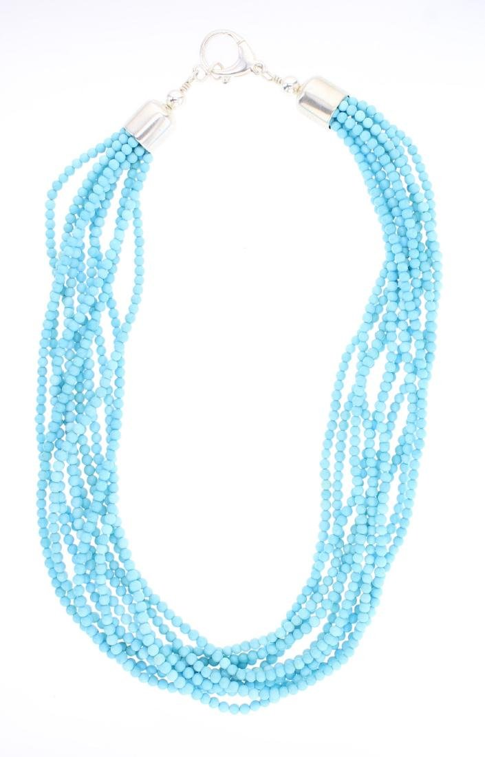Sleeping Beauty Turquoise Multi Strand Necklace