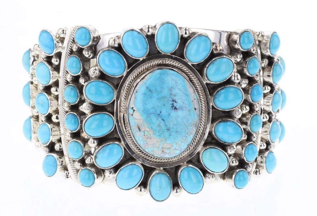 Kathleen Chavez Turquoise Contemporary Cluster Cuff