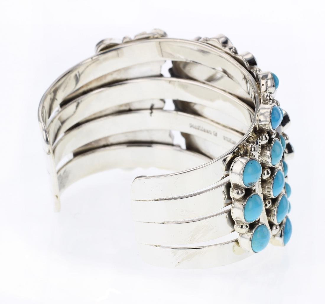 Kathleen Chavez Turquoise Contemporary Cluster Cuff - 2