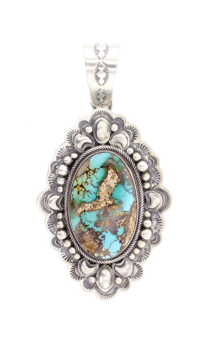 Royston Turquoise Stamp Out Pendant