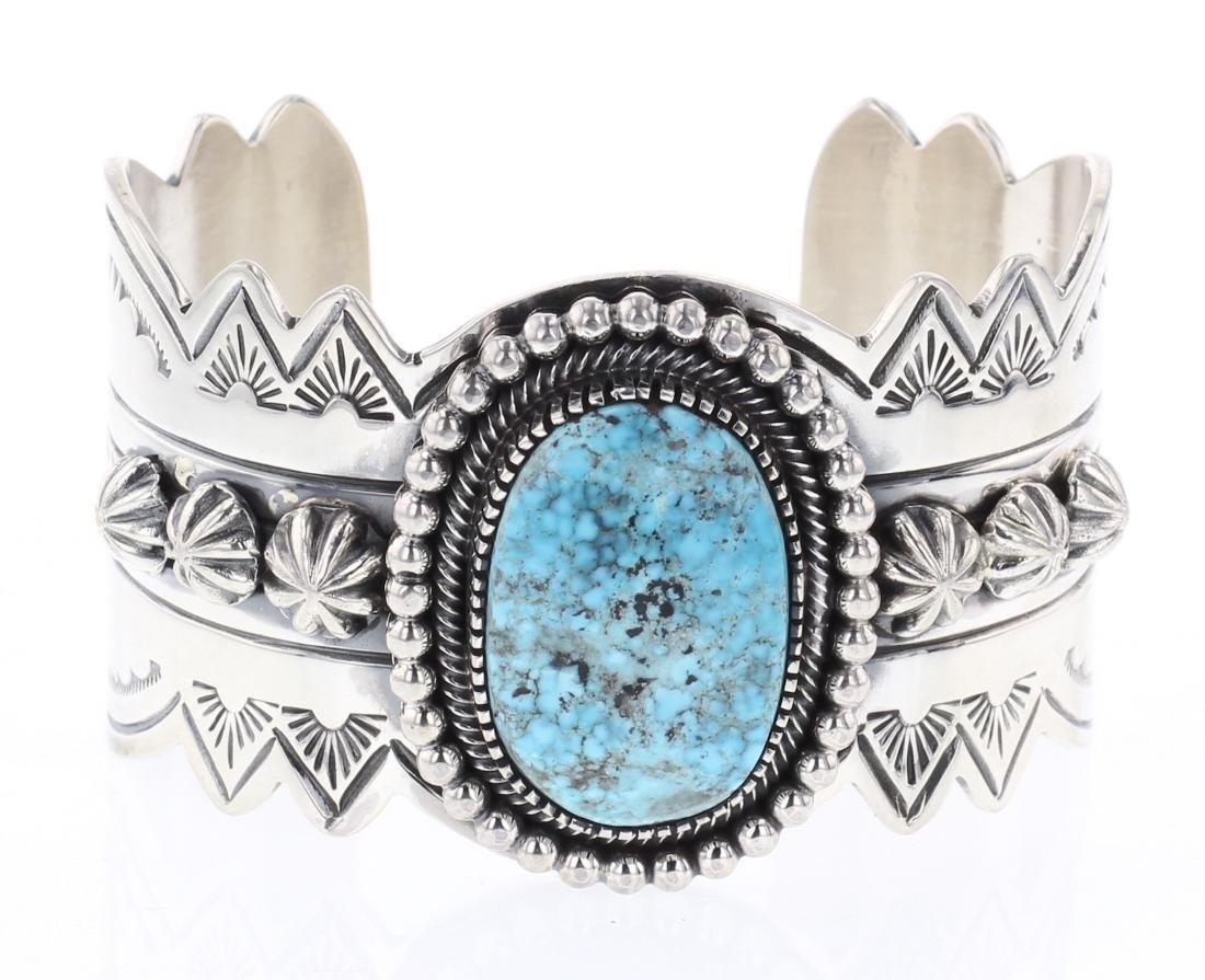 Ray Bennett Turquoise Drop Cuff Bracelet