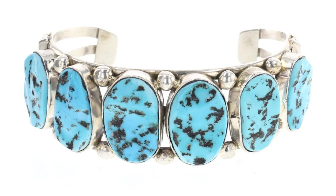 Vintage Nugget Turquoise Row Bracelet