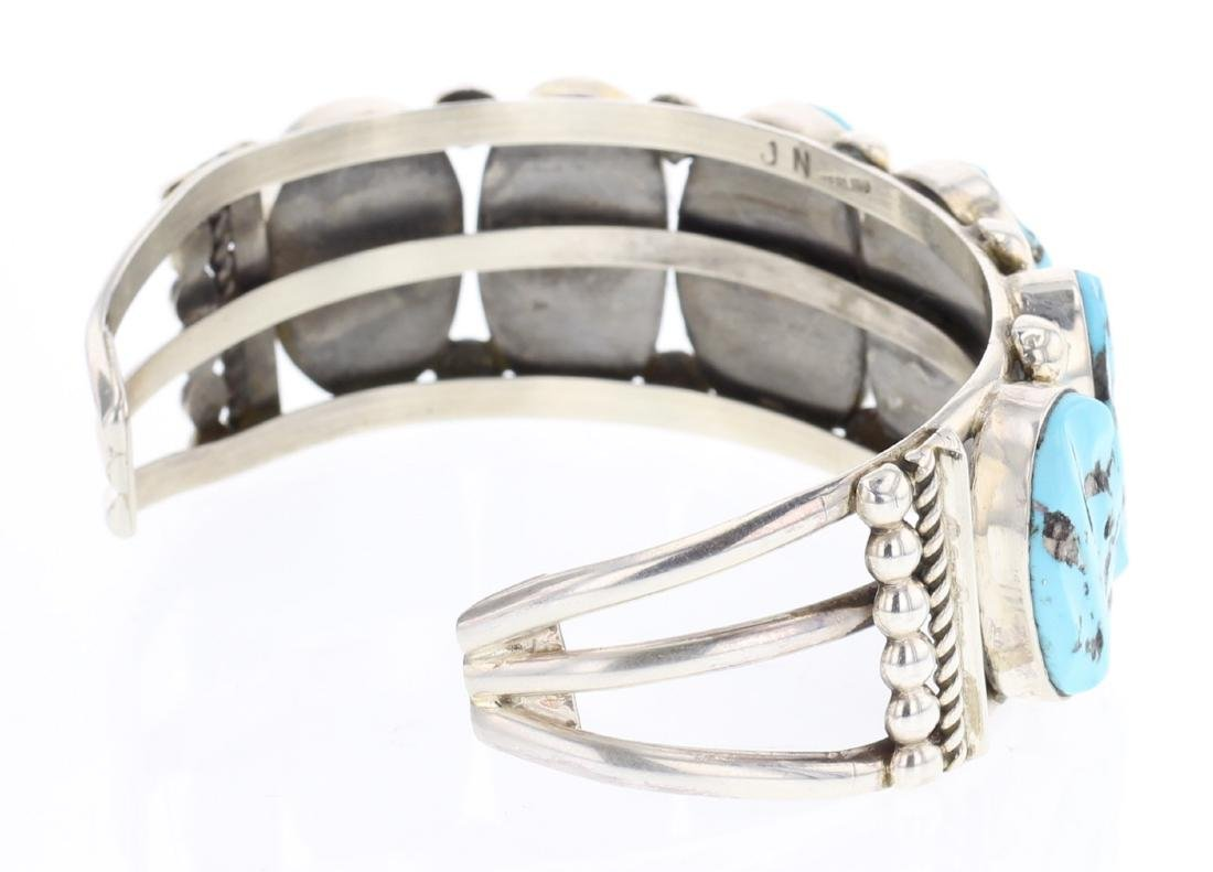 Vintage Nugget Turquoise Row Bracelet - 2