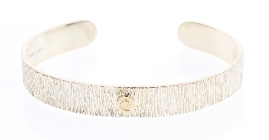 MLP 14K Accent Contemporary Etch Cuff Bracelet