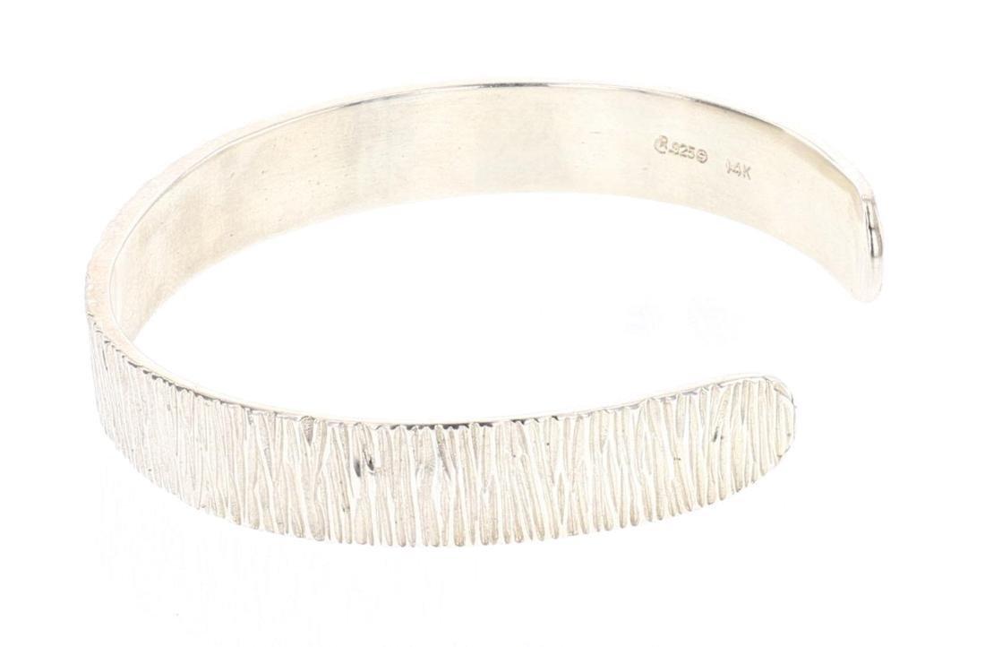 MLP 14K Accent Contemporary Etch Cuff Bracelet - 3