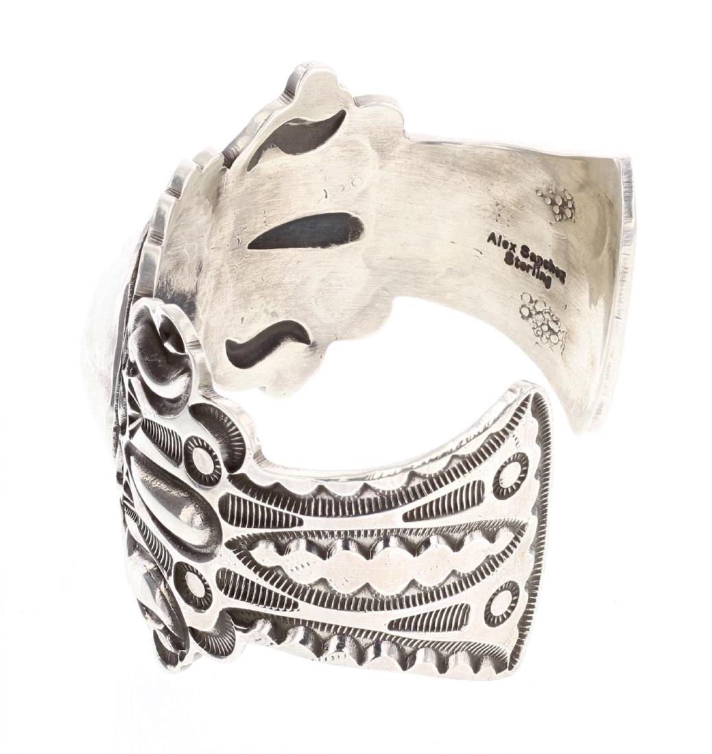 Alex Sanchez Heavy Stamp Bump Out Cuff Bracelet - 2