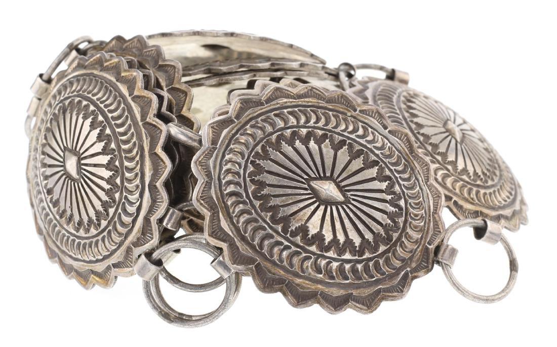 SM Old Pawn Vintage Heavy Stamp Concha Belt