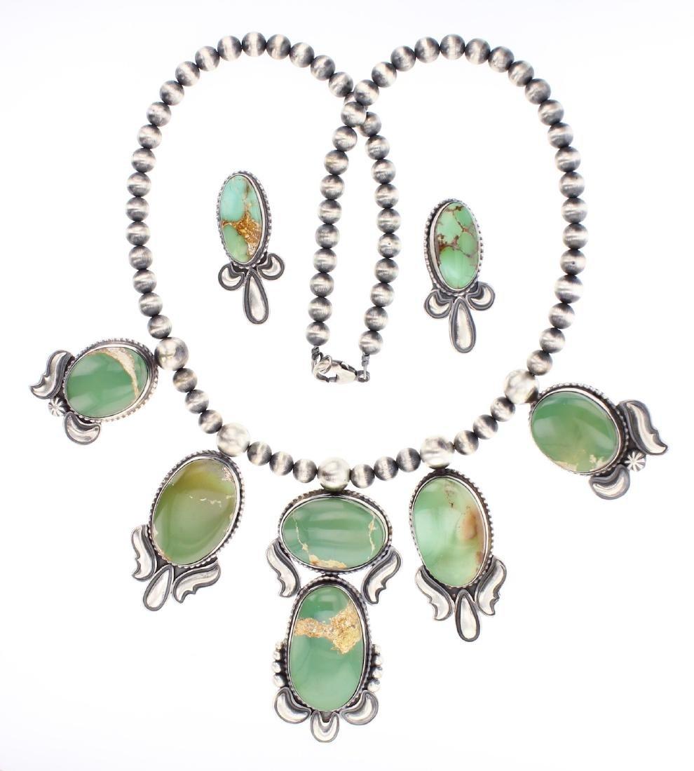 Paul Livingston Royston Large Turquoise Necklace &