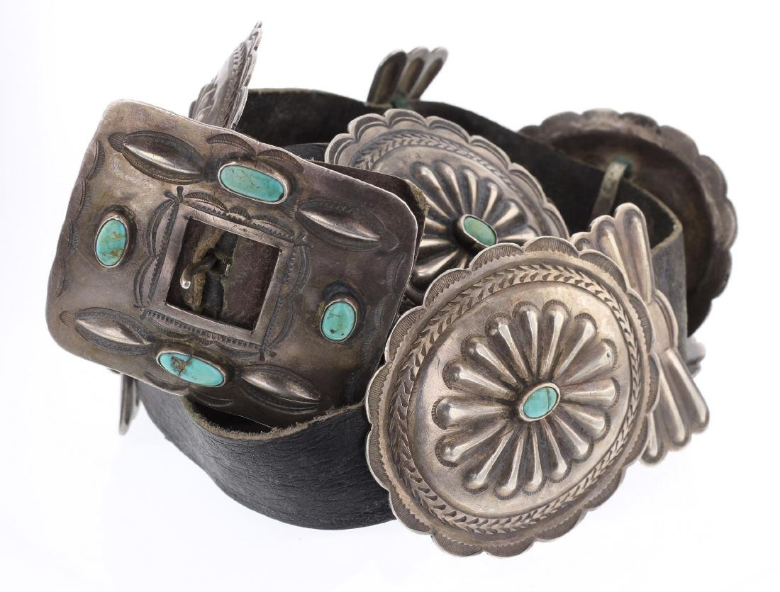 Old Pawn Turquoise Concho Belt