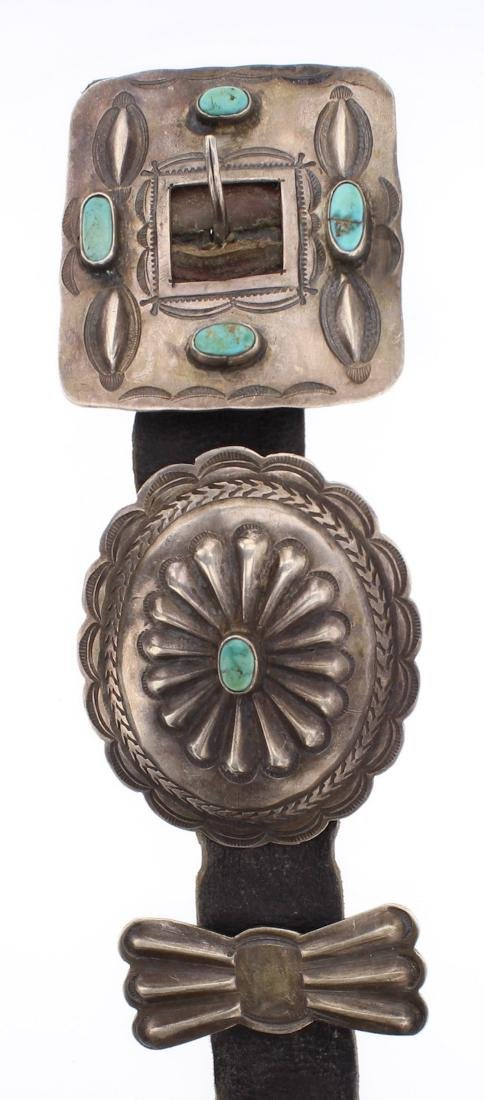 Old Pawn Turquoise Concho Belt - 2