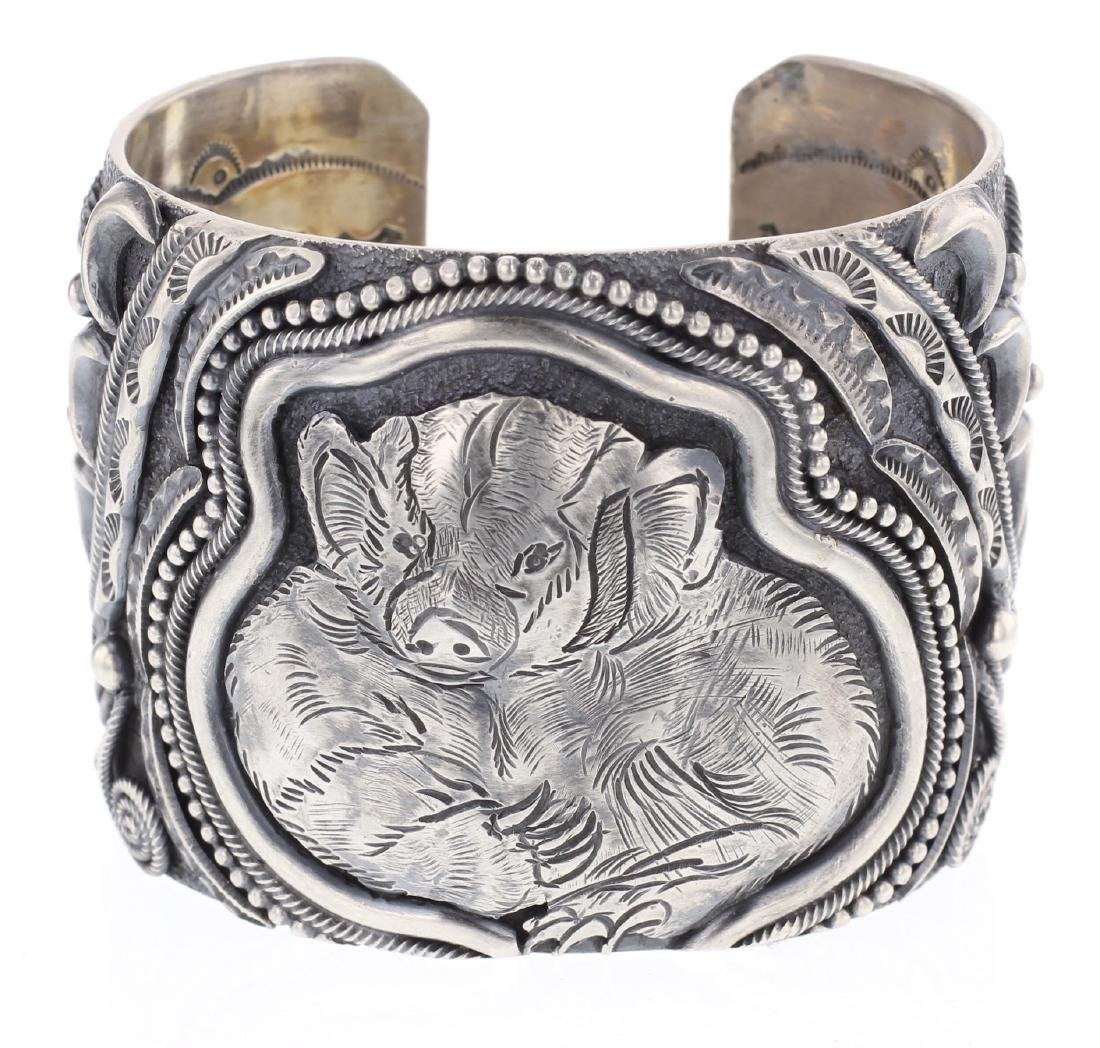 Larry Martinez Chavez Badger Bracelet ~ LMC Southwest