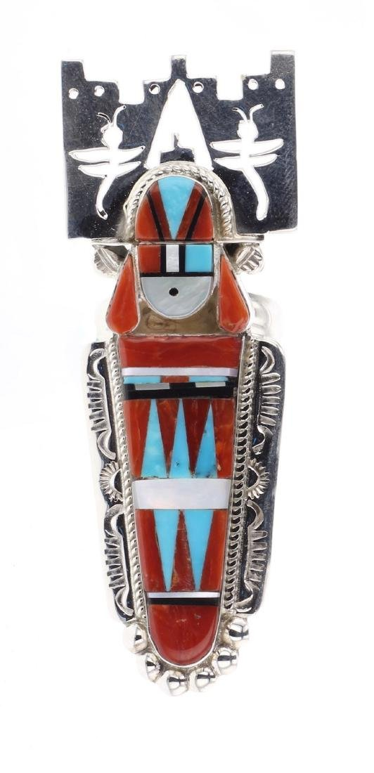 Rayland & Pattie Edaakie Coral & Turquoise Chief Zuni