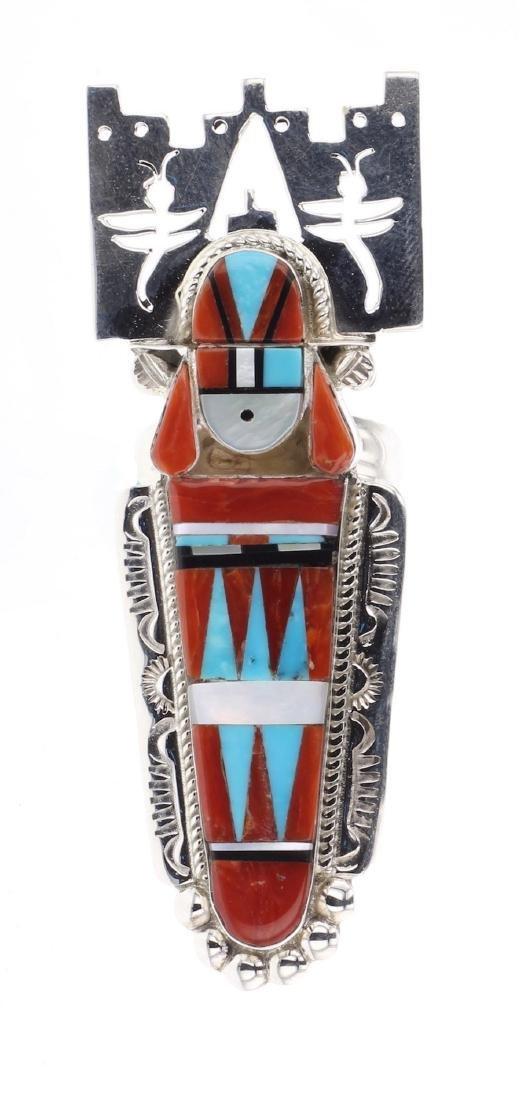 Rayland & Pattie Edaakie Coral & Turquoise Chief Zuni