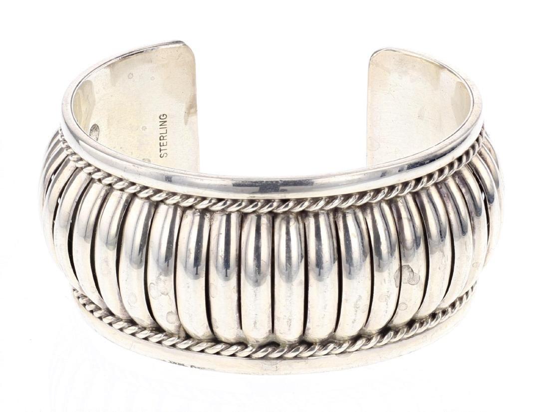 Vintage Jump Ring Row Cuff Bracelet